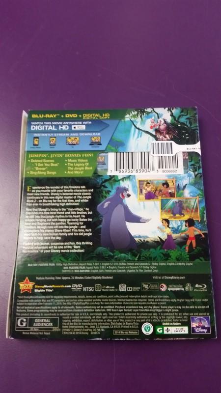 NEW Disney's The Jungle Book 2 - Bluray + DVD + Digital HD