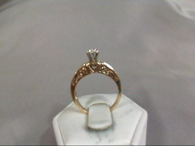 Lady's Diamond Fashion Ring 11 Diamonds .40 Carat T.W. 10K Yellow Gold 3.79g