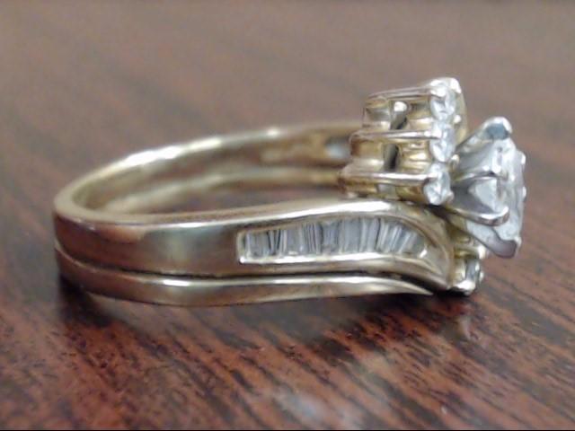 ESTATE MARQUISE NATURAL DIAMOND 0.48 CTW WEDDING SET 14K GOLD SIZE 7