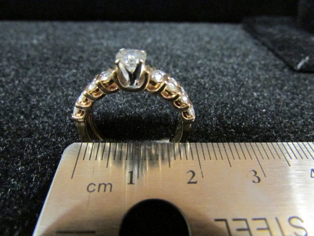 Lady's Diamond Wedding Set 20 Diamonds 1.44 Carat T.W. 14K Yellow Gold 6g