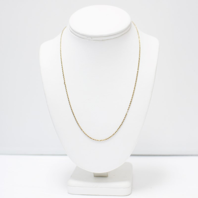 "25"" 10K Yellow Gold Rope Chain"