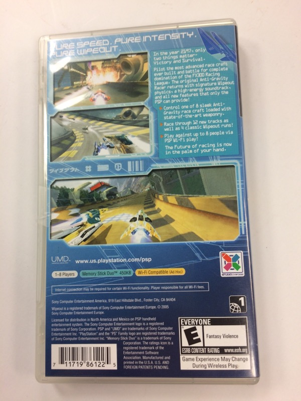 SONY Sony PSP Game WIPEOUT PURE PSP