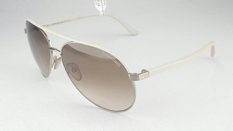 TOM FORD Sunglasses TF112 Silvano white/brown