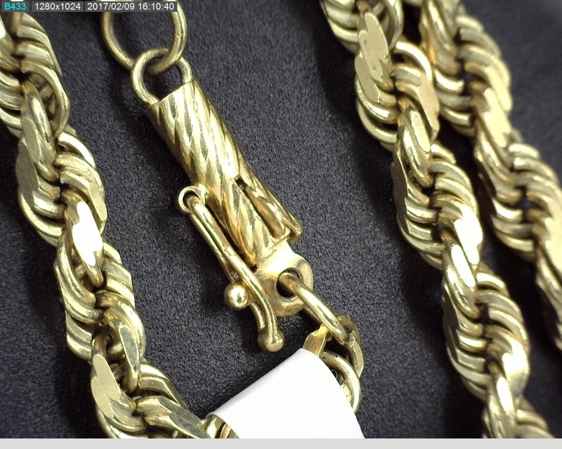 """20"""" SOLID ROPE CHAIN 14KYG 23.5G"""