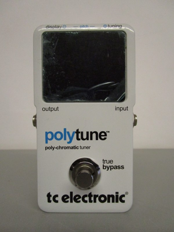 TC ELECTRONIC POLYTUNE IN ORIGINAL BOX WITH MANUAL, STICKER, VELCRO