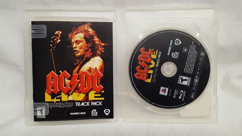 Sony PlayStation 3 Game ACDC LIVE ROCKBAND TRACK PACK