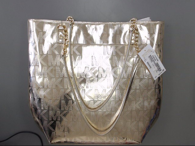 MICHAEL KORS Jet Set Mirror Metallic Rose Gold Tote Shopper Bag