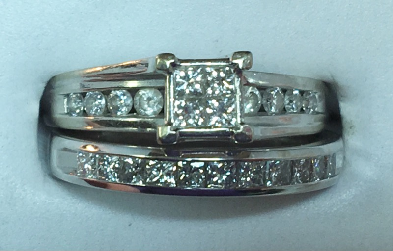Lady's Diamond Engagement Ring 26 Diamonds 1.08 Carat T.W. 14K White Gold 7g