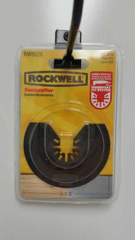 Rockwell RW8928 3-1/8-Inch Sonicrafter HSS Semicircle Saw Blade