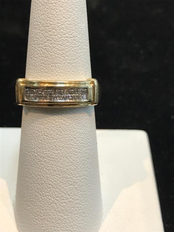 Lady's Yellow Gold Diamond Wedding Set 14K Yellow Gold 8.4g (Free S/H)