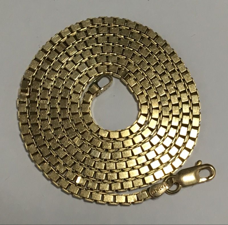 "24"" Gold Box Chain 14K Yellow Gold 23g"