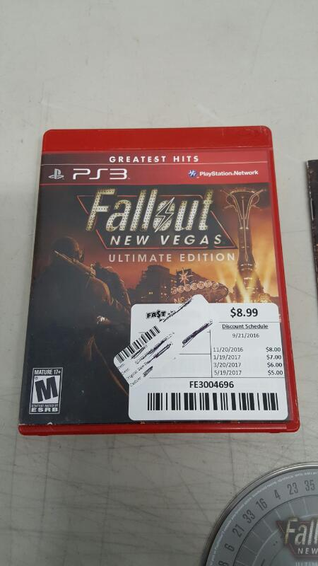 Fallout: New Vegas - Ultimate Edition GH (Sony PlayStation 3, 2012) PS3