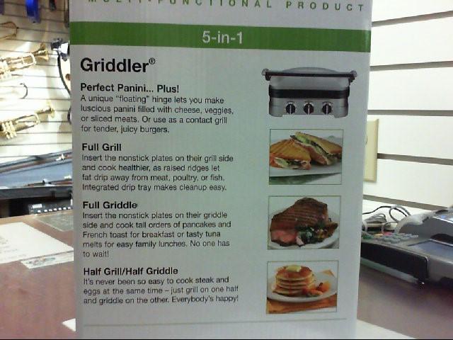 NIB CUISINART Grill GR-4N 5-IN-1 GRIDDLER