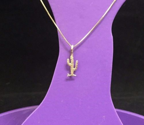 Beautiful 14k Yellow Gold Western-Inspired Cactus Charm