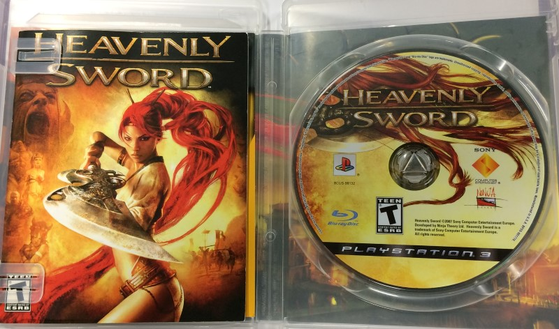 SONY PLAYSTATION-3, HEAVENLY SWORD GAME, GOOD CONDITION