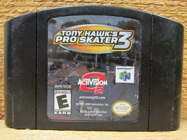 NINTENDO Nintendo 64 Game TONY HAWKS PRO SKATER 3 64