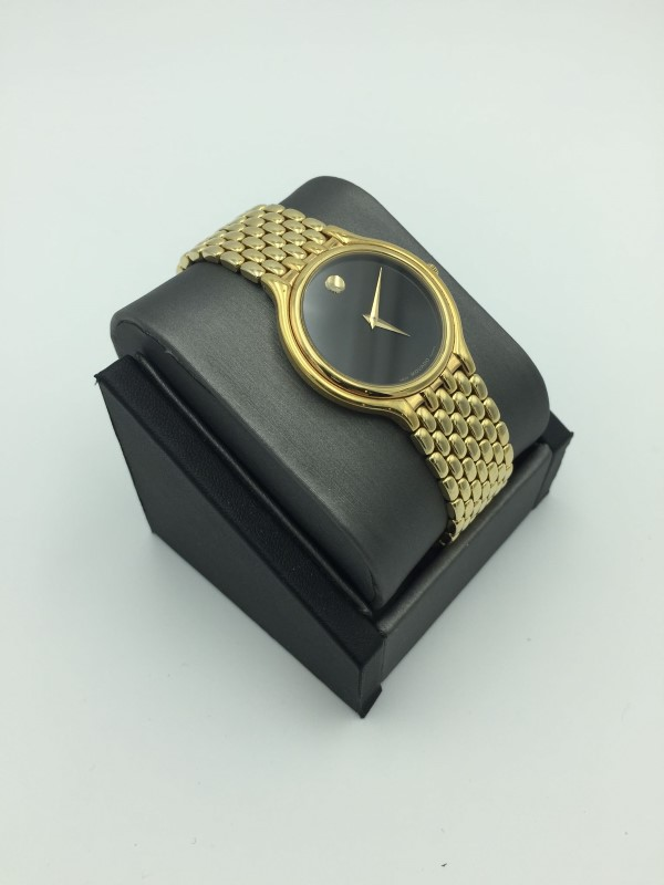 Elegant Unisex Movado Museum Model# 87.33.866 Swiss Quartz Watch