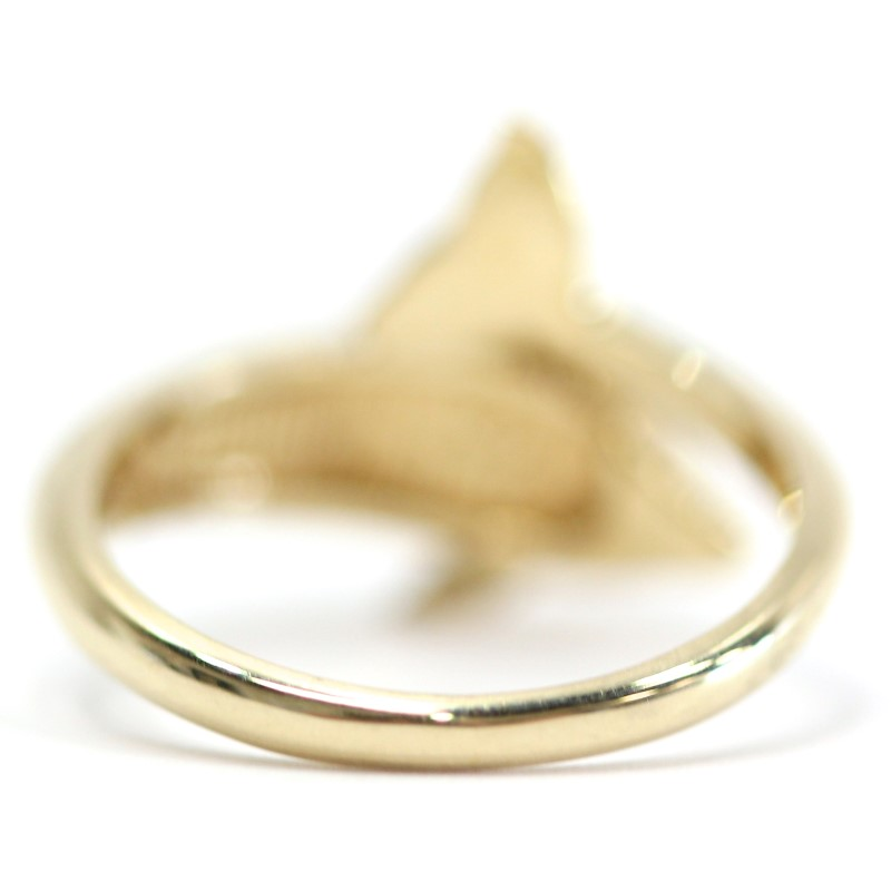 AUSTRALIAN OPAL 14K YELLOW GOLD DOLPHIN RING SIZE 6.75