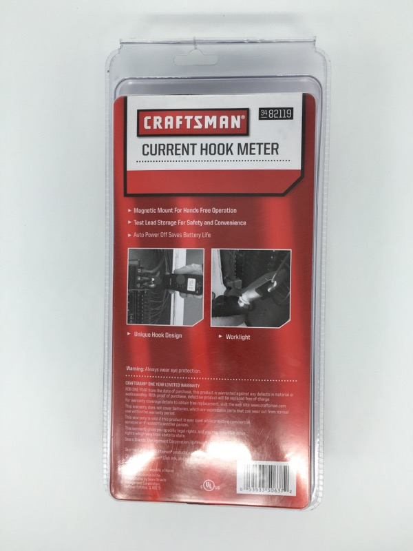 CRAFTSMAN  82119 current hook meter new in plastic