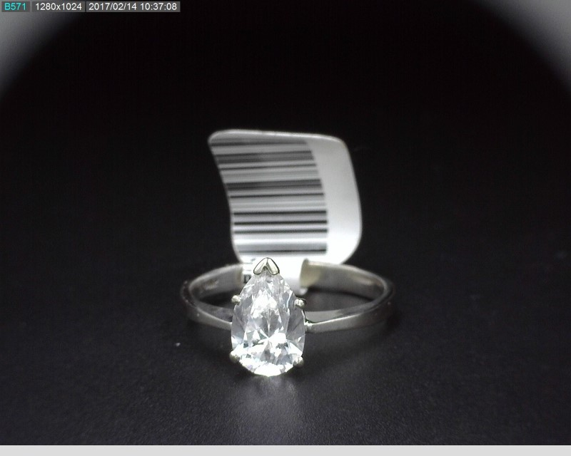 CUBIC ZIRCONIA SOLITAIRE IN 14K WHITE GOLD 2.5G SZ.7