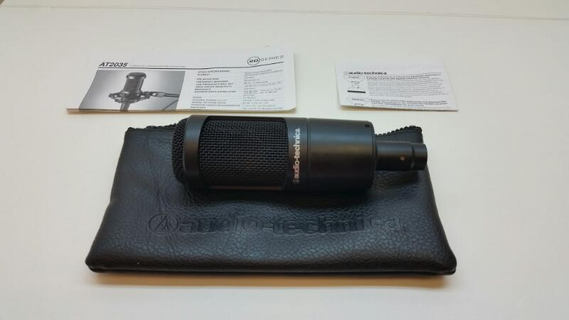 AUDIO-TECHNICA AT2035 CARDIOID CONDENSER MICROPHONE]