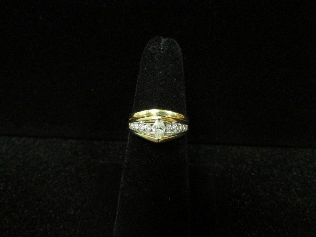 Lady's Diamond Wedding Set 11 Diamonds .43 Carat T.W. 14K Yellow Gold 4.4g