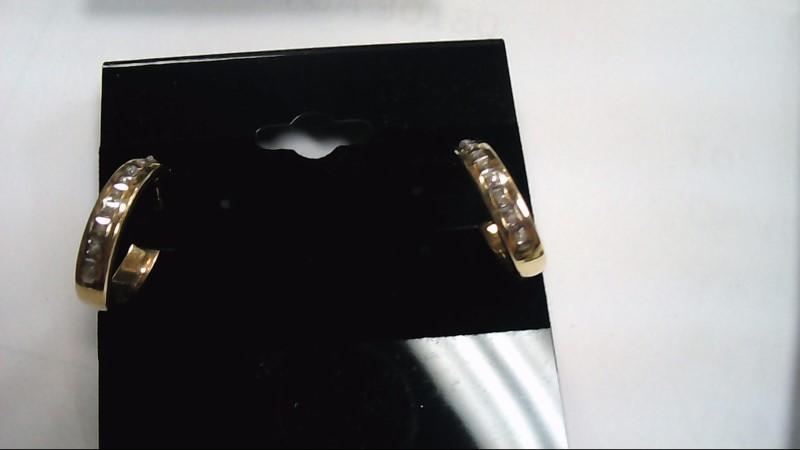 Gold-Diamond Earrings 20 Diamonds .20 Carat T.W. 14K Yellow Gold 1.5g