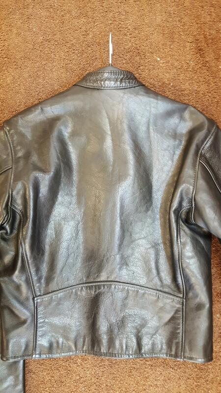 VANSON LEATHERS Comet 1950's Style Leather Jacket, Size 36