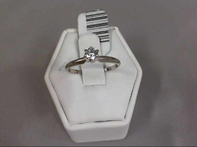 Lady's Diamond Solitaire Ring .50 CT. 14K White Gold 1.63g