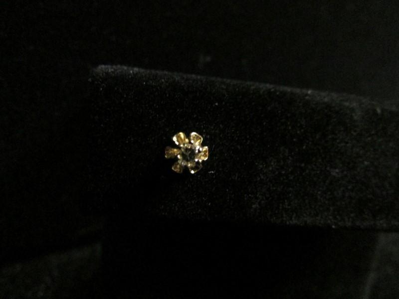 Gold-Diamond Earrings .06 CT. 10K Yellow Gold 0.3g