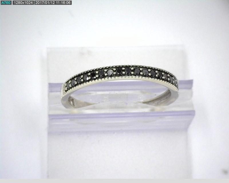 10K WG .31CTW BLACK DIAMOND BAND SZ 7.5