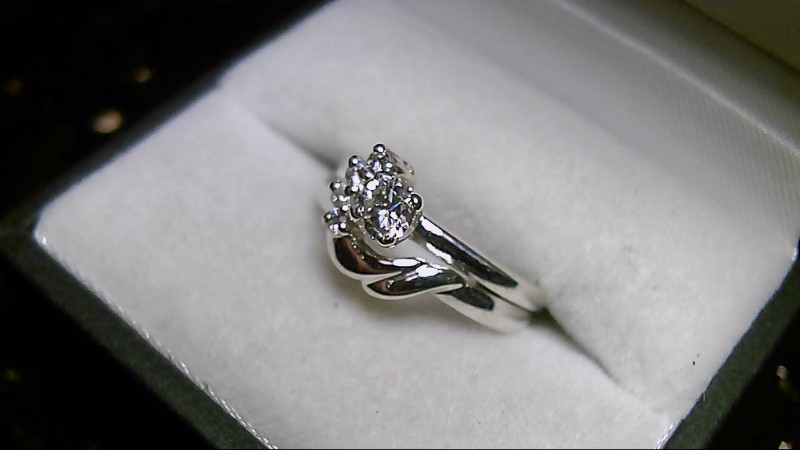 925 5 Diamonds .47 CTTW Sterling Silver Ring Set