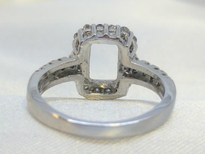 Lady's Diamond Engagement Ring 26 Diamonds .26 Carat T.W. 14K White Gold 4.3g
