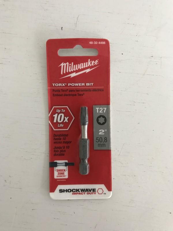 MILWAUKEE 48-32-4486 T27 TORX SHOCKWAVE 2 IN. POWER BIT