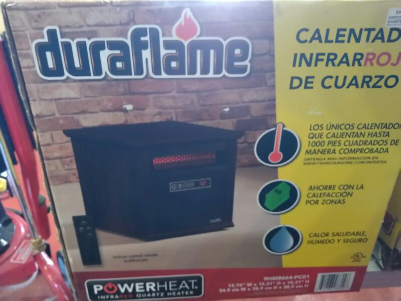 DURAFLAME Heater INFRARED QUARTZ TOWER HEATER WITH FAN