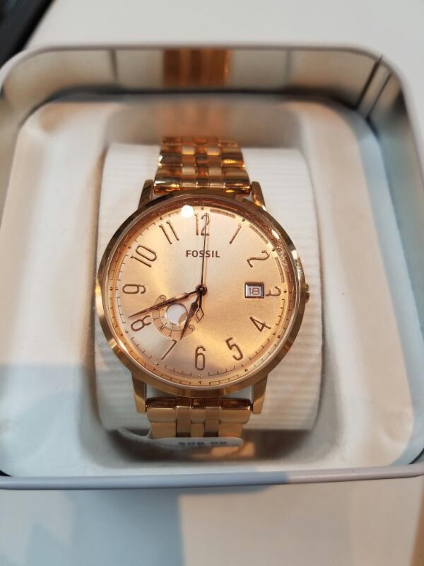 FOSSIL Lady's Rose Gold Wristwatch in Box ES3789 (Free S/H)