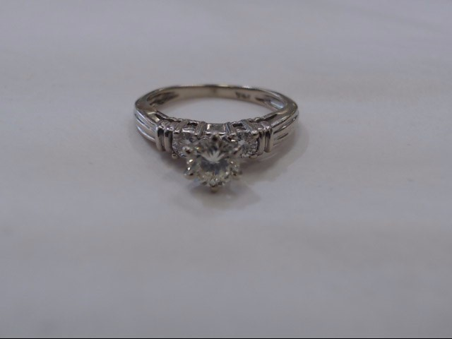 LDS_14KT_W/G Lady's Diamond Engagement Ring .40CT_CNT_RD,_6DIA
