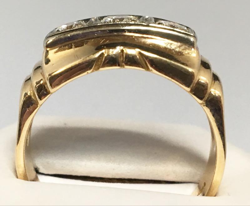 Size 9.5 14K 3 Diamonds .45 Carat T.W. Ring