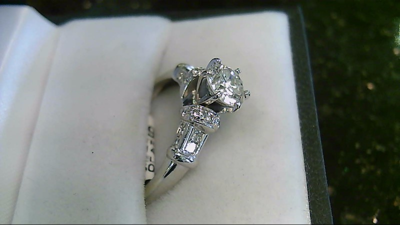 Lady's Diamond Wedding Set 23 Diamonds 1.30 Carat T.W. 14K White Gold 4.5g