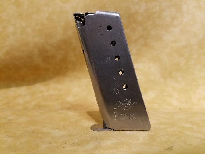 Factory Kimber Solo 9mm 6 Round Magazine Mag Stainless