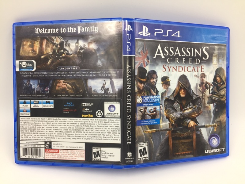 SONY  PLAYSTATION 4- ASSASSIN'S CREED SYNDICATE - PS4