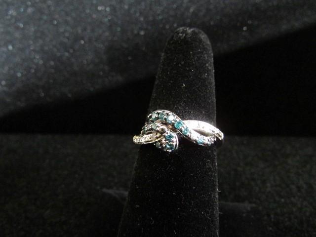Lady's Diamond Fashion Ring 19 Diamonds .19 Carat T.W. 10K White Gold 4.1g