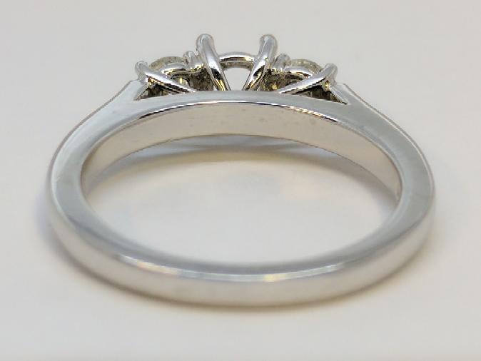 Lady's Platinum Diamond Fashion 2 Diamonds .30 Carat T.W. 950 Platinum 6g