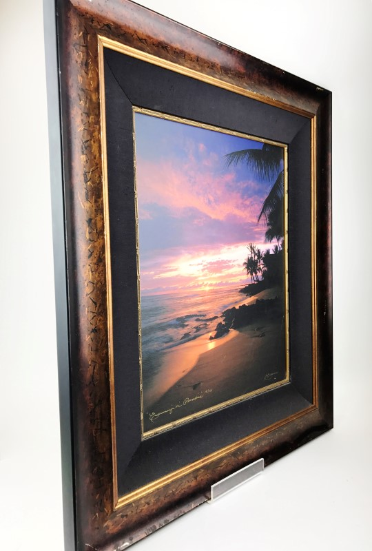 HAWAII FRAMED PIC PAINTED WATERS