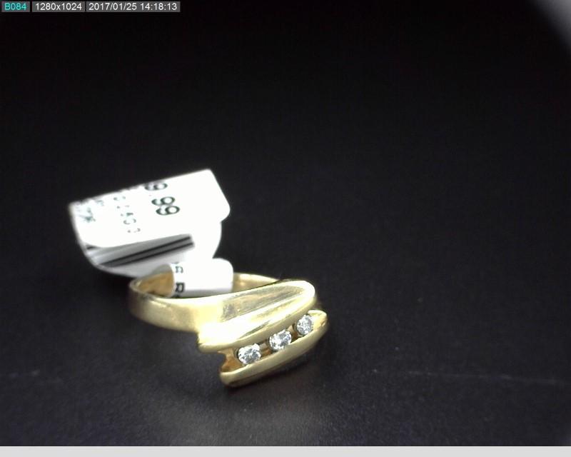 3 DIA APX.15CTW PINKY RING 10KYG 2.5G SZ3.5