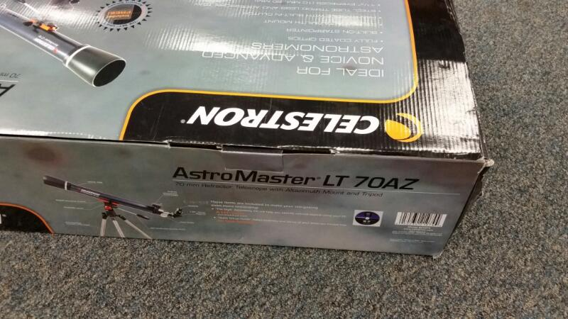 CELESTRON ASTRO MASTER LT70AZ REFRACTOR TELESCOPE]
