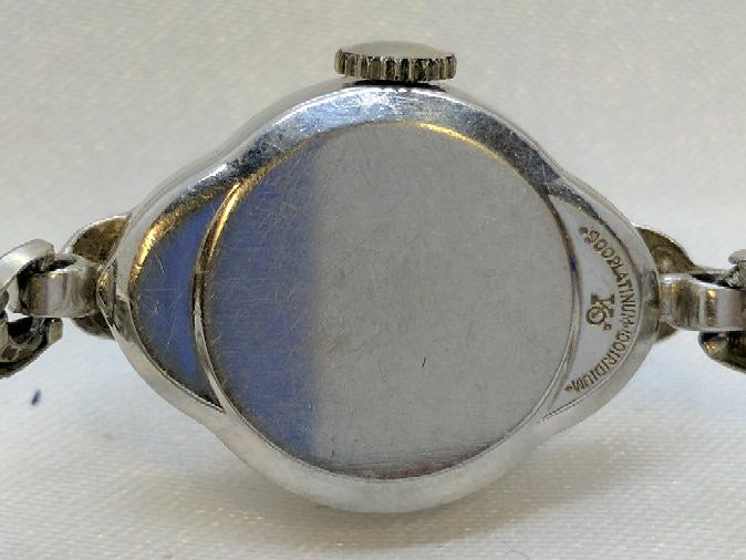 Elgin Ladies Art Deco Platinum Watch .34 TCW in Diamonds