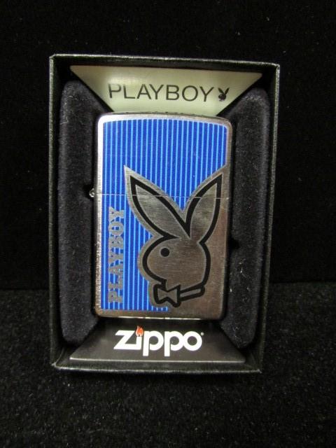ZIPPO Lighter 28261 PLAYBOY BUNNY BLUE