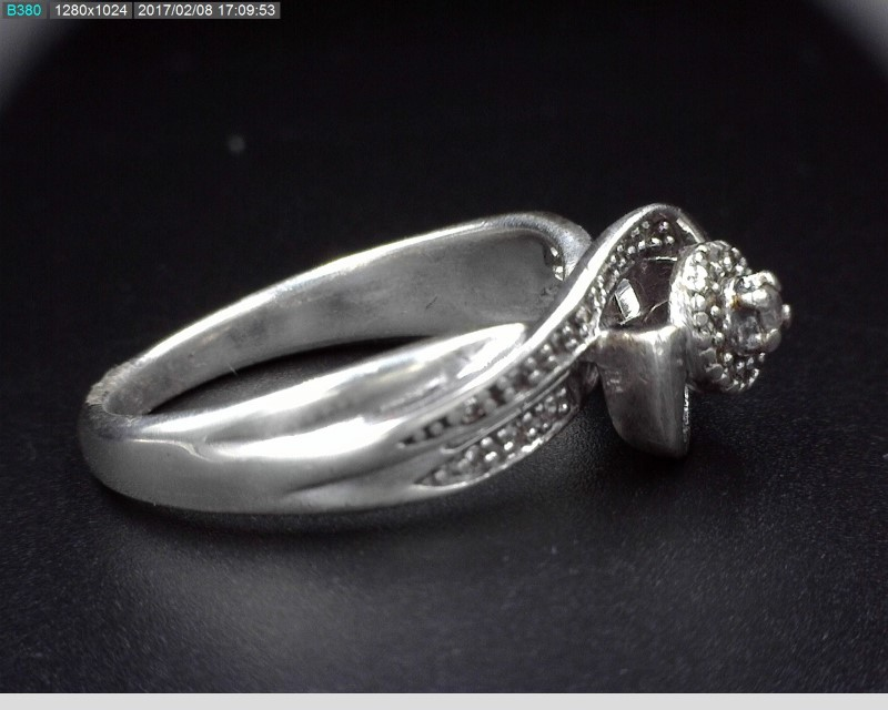 STERLING SILVER LADY'S DIAMOND ENGAGEMENT RING SZ.6.5