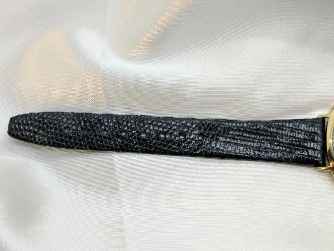 Omega Gent's Wristwatch Vintage 14K CAL Black Dial Geneve